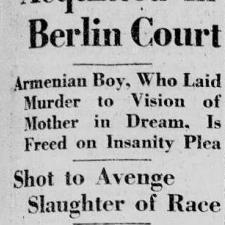 Talaat Pasha fue asesinado en Berlín el 15 de Marzo de 1921.