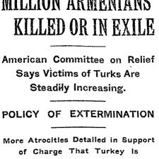 Las masacres y deportaciones armenias fueron ampliamente reportadas en la prensa internacional entre 1890 y 1920